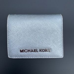 Michael Kors Silver Wallet - small